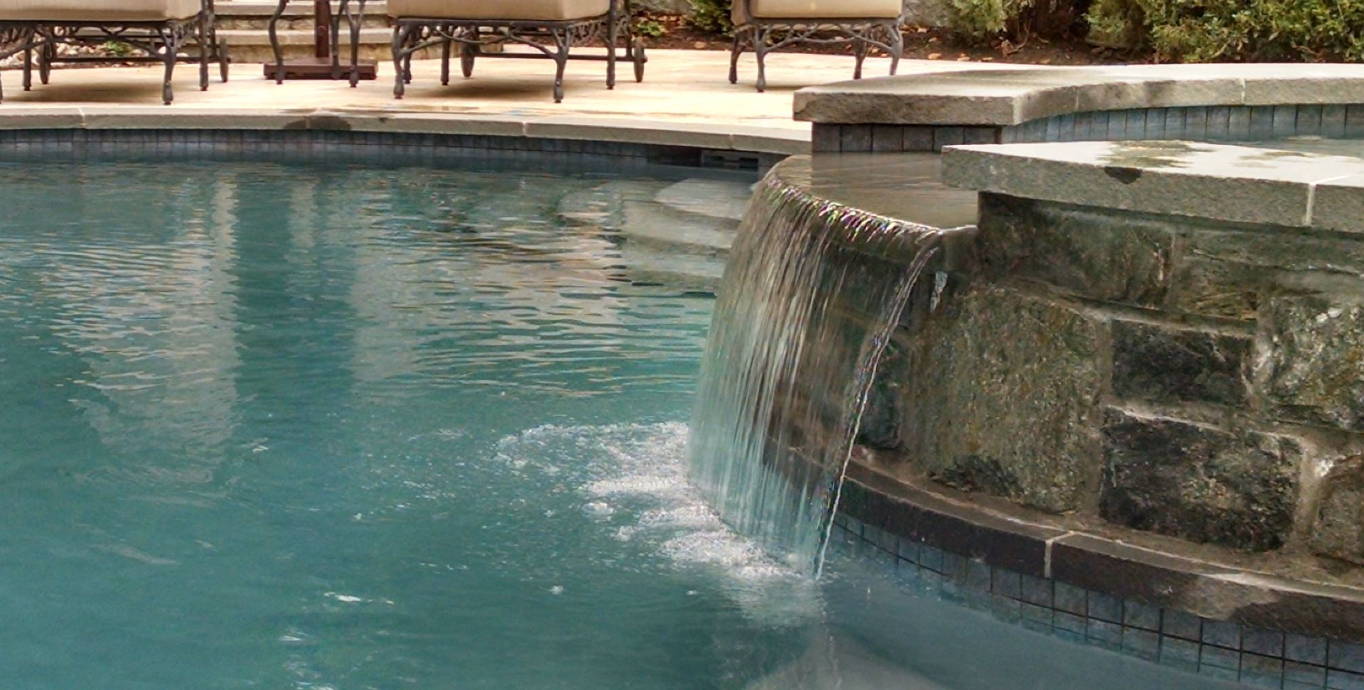 pool and spa waterfall in mclean virginia