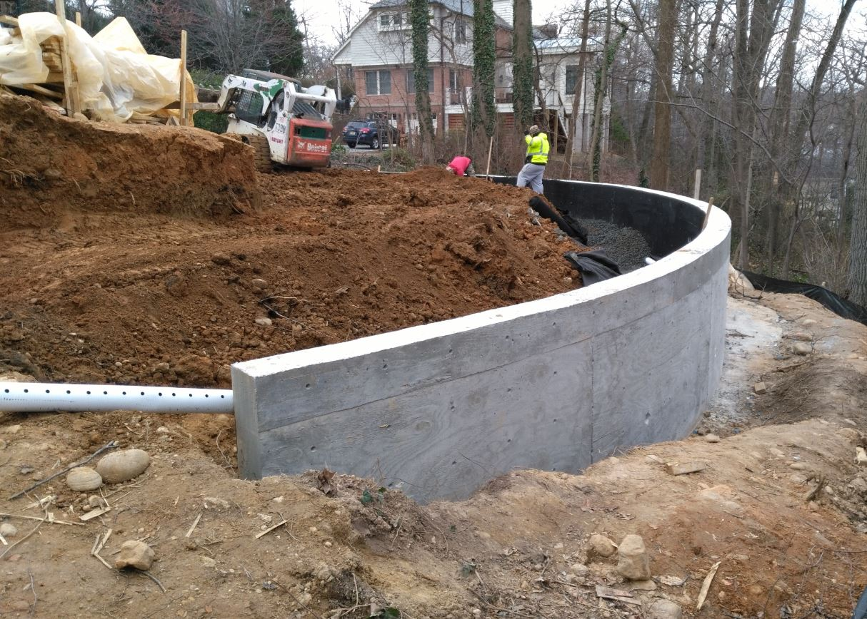 retaining wall project in arlington virginia