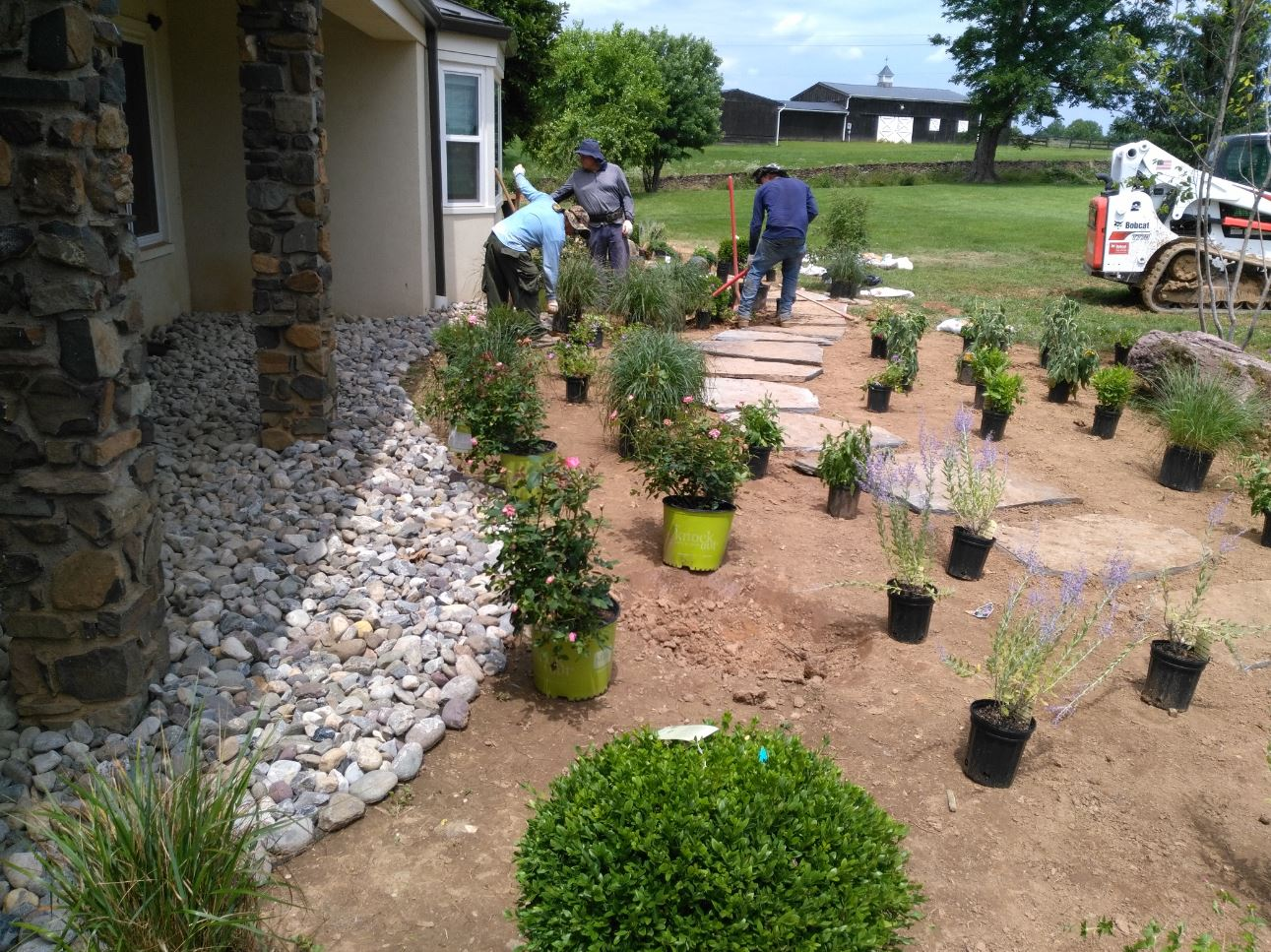 landscaping project in upperville virginia